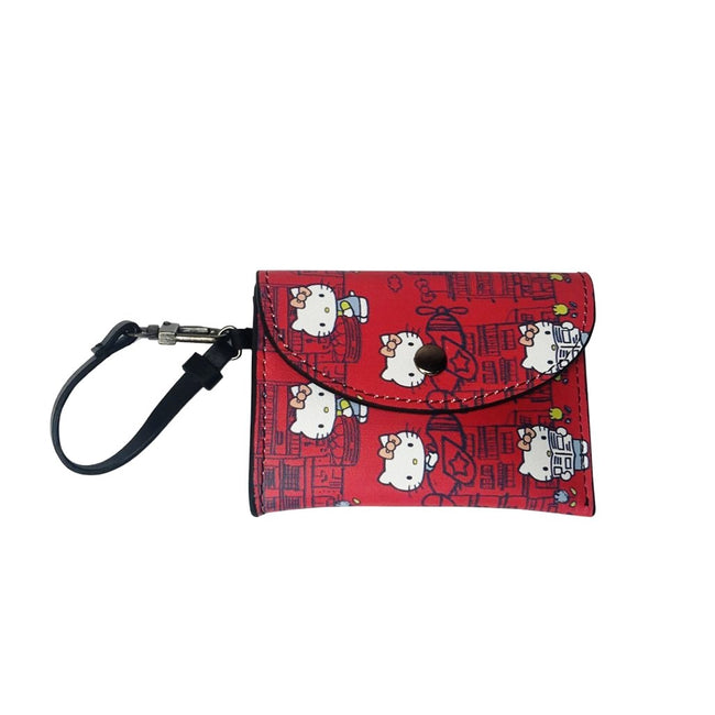 'Hello Kitty x G.O.D. Yaumati' leather card case (red)