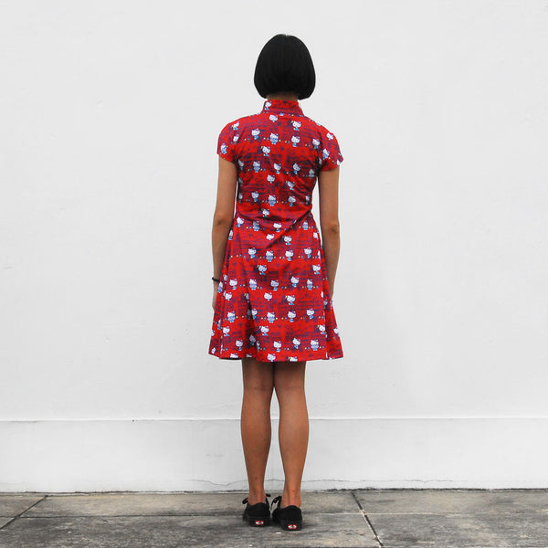 'Hello Kitty X G.O.D. Yaumati' Qipao dress (red)