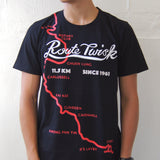 'Route Twisk' T-shirt, Black