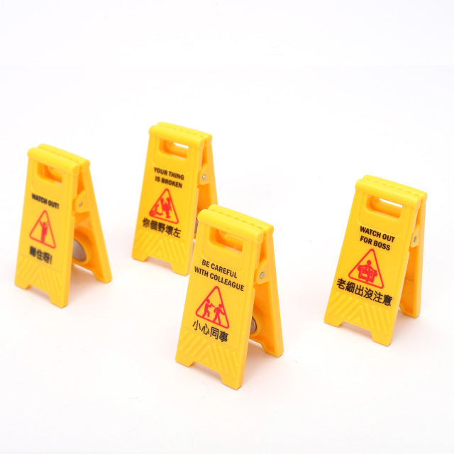 Caution Sign Clip Set (Watch Out)