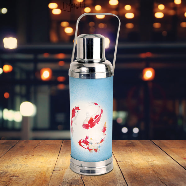Vacuum Flask Lamp, Leaping Koi