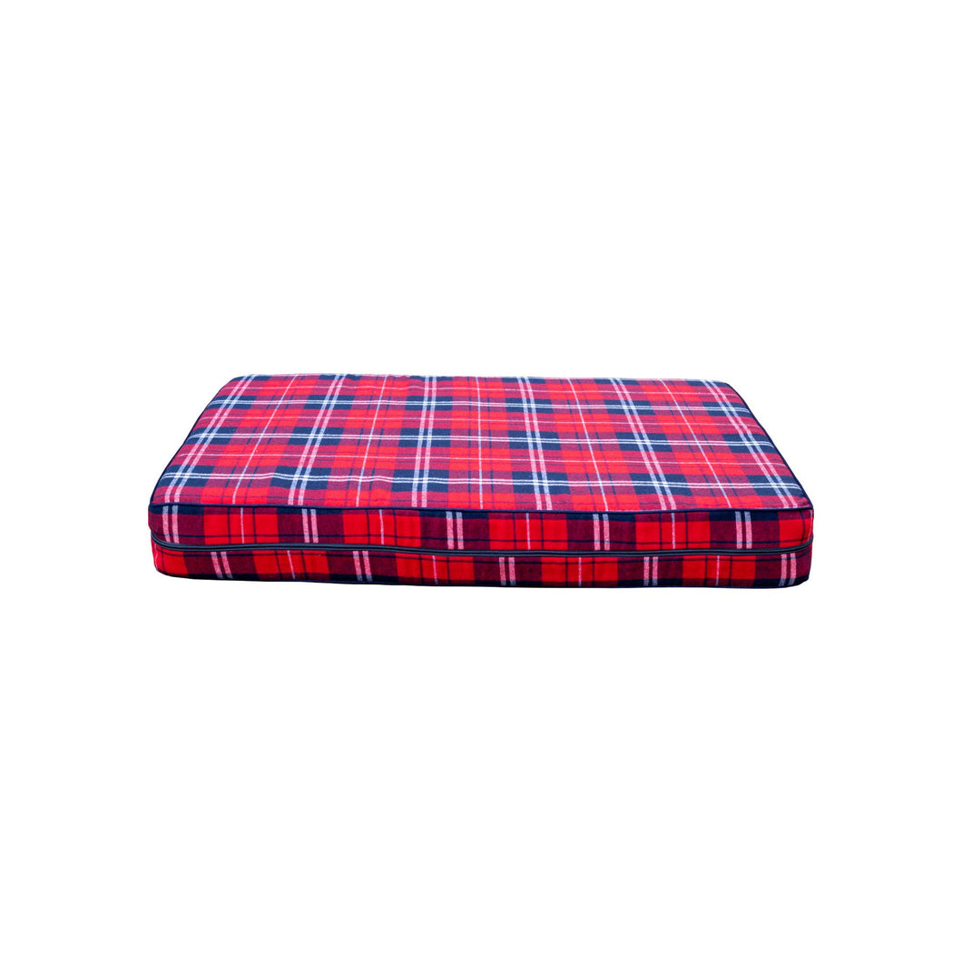Cozy Dog Bed in Red Plaid by Coco Jojo