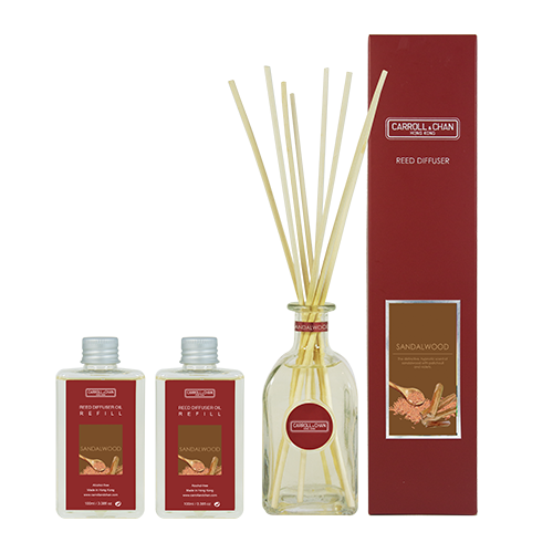 Sandalwood 200ml Diffuser Set by Carroll&Chan