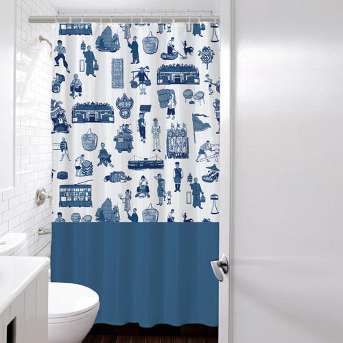 'Hong Kong District' shower curtain- 180 x 180 cm, Homeware, Goods of Desire, Goods of Desire