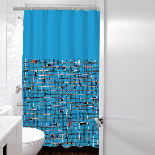 'Scaffolding' shower curtain