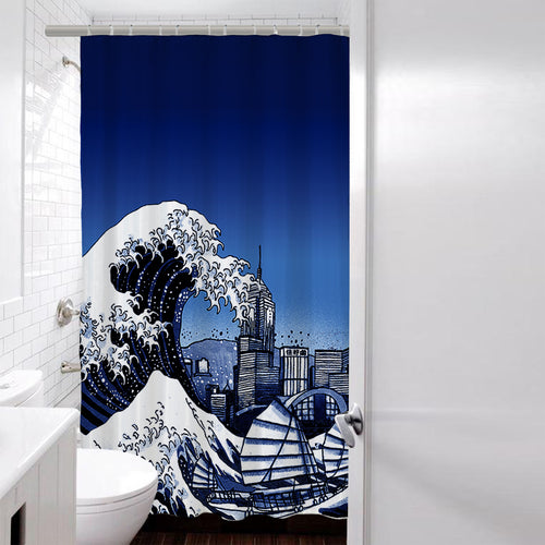 'Tsunami' shower curtain