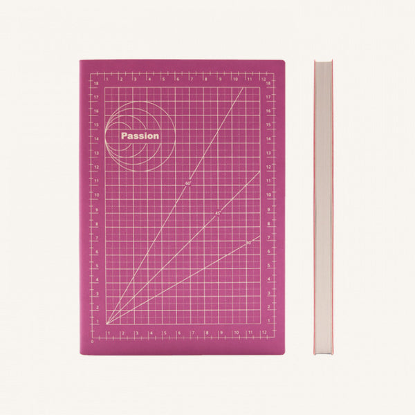 Daycraft Signature Mathematical Grids Grid Notebook - A5, Passion