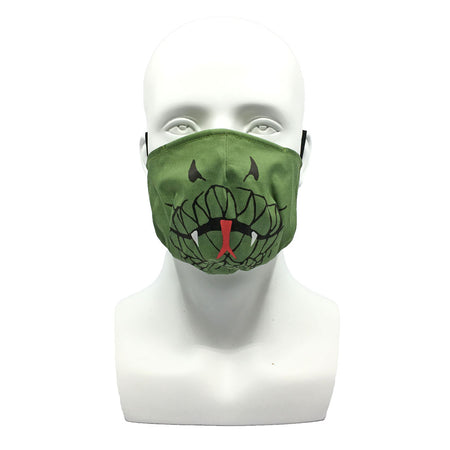One Layer Fabric Ruffle Mask with Adjustable String, DRAGON