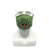 One Layer Fabric Ruffle Mask with Adjustable String, SNAKE