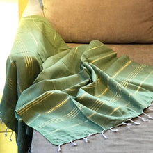 Load image into Gallery viewer, Classic Turkish Towel, Golden Green