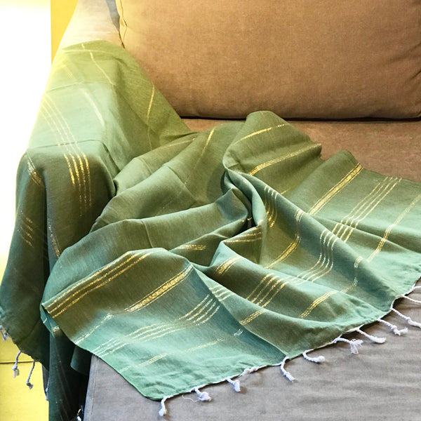 Classic Turkish Towel, Golden Green