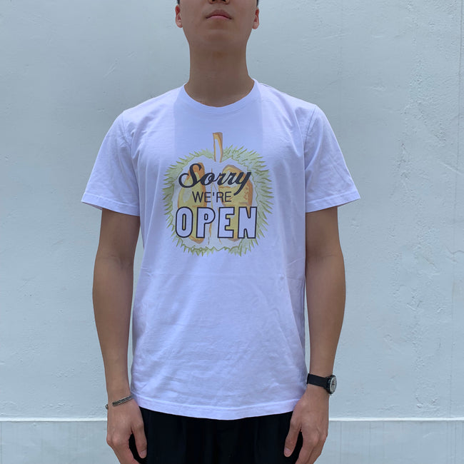 'Sorry We're Open' T-shirt