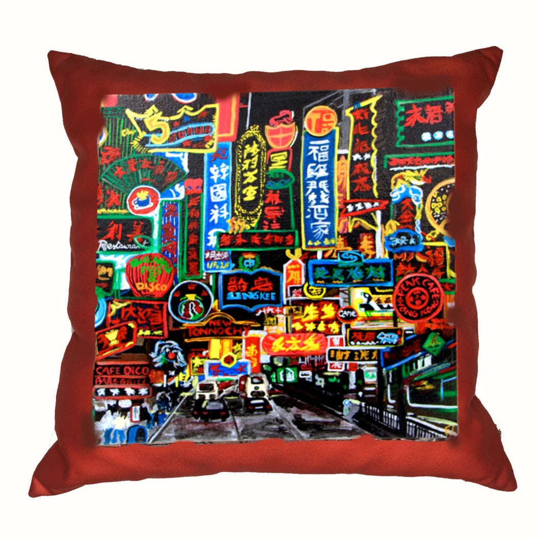 diFV-art Neon Signs Cushion Cover (45 x 45 cm)