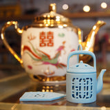 'Mini Teapot' tea infuser (sky blue)