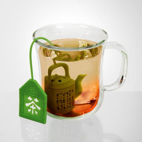 'Mini Teapot' tea infuser (neon yellow)