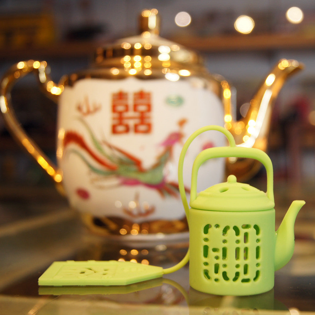 'Mini Teapot' tea infuser (lime green)