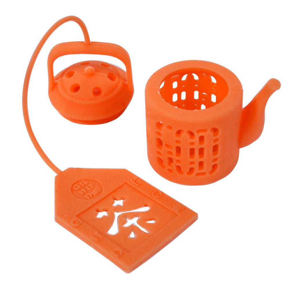 'Mini Teapot' tea infuser (electric orange)