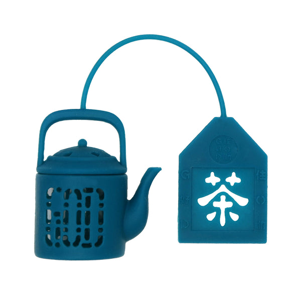 'Mini Teapot' tea infuser (Teal)