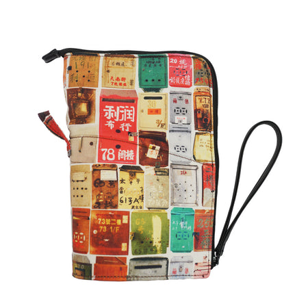 'Lovely Monogram' foldable shopping bag with button