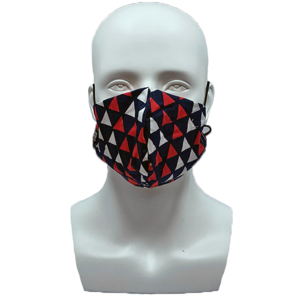 Triangles Snouted Mask with Adjustable String (Mesh layer)
