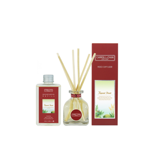 Tropical Forest 100ml Diffuser Set by Carroll&Chan