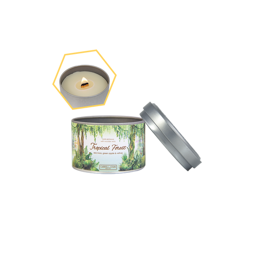 Tropical Forest Beeswax Tin Candle by Carroll&Chan