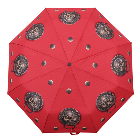'Lion Door Knocker' folding umbrella