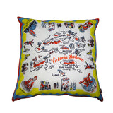 'Hong Kong Map' cushion cover