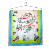 'Victoria Harbour' large silk scarf