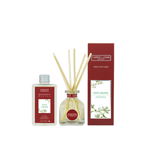 White Jasmine 100ml Diffuser Set by Carroll&Chan