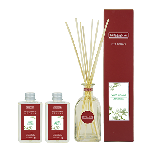 White Jasmine 200ml Diffuser Set by Carroll&Chan