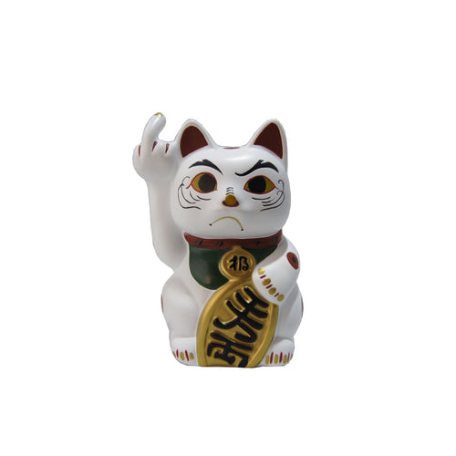 'Angry Cat' (small, white)