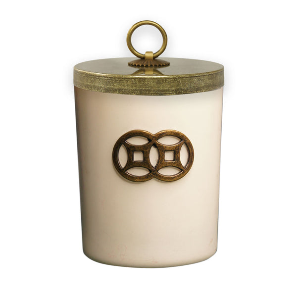 'White Elixir' Double Coin Jar Candle