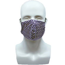 Load image into Gallery viewer, Dots Purple Snouted Mask with Adjustable String (Mesh layer)