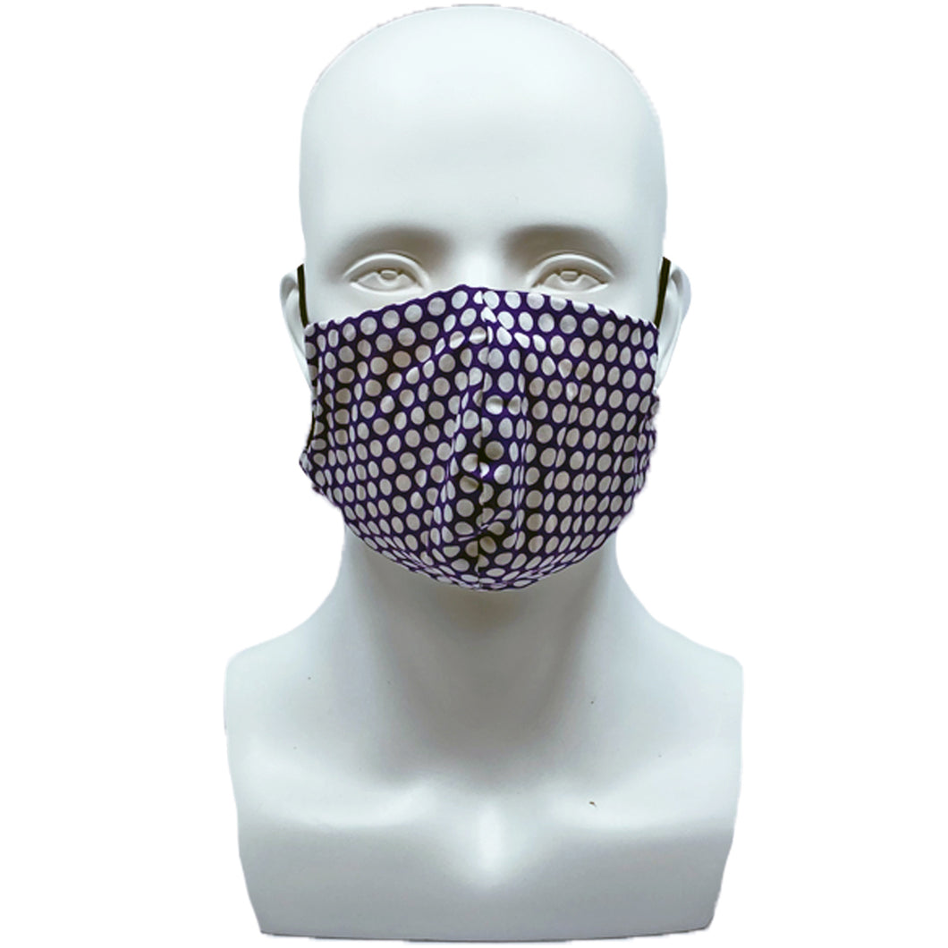 Dots Purple Snouted Mask with Adjustable String (Mesh layer)