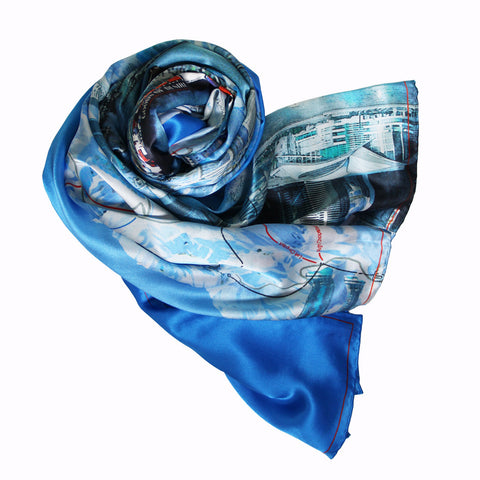 'Winter Wonderland' silk scarf