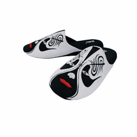 Betta 'Chinese Opera Man' slippers (white)