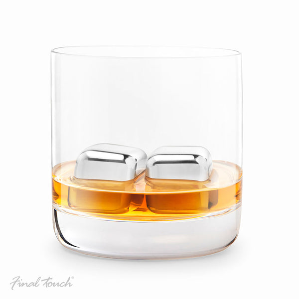 Stainless steel ice cubes (set of 2)
