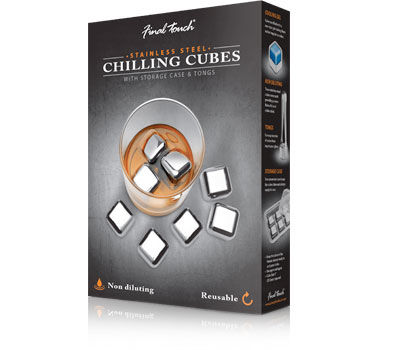 Stainless steel ice cubes (set of 8)