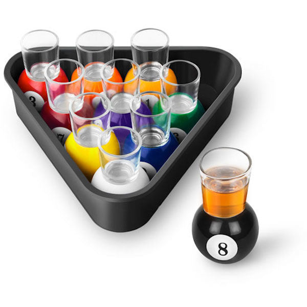Billiards / Pool shots with rack tray