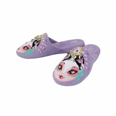 Betta 'Chinese Opera Woman' slippers (light purple)