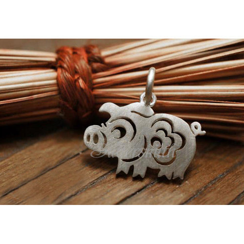 Chinese Zodiac Pig Charm by Silversmith