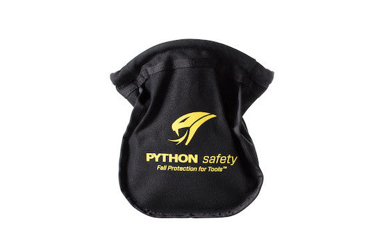 Python Safety™ Small Parts Pouch with self-closure opening, canvas, black