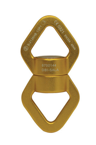 Rigmaster™ Swivels - Triangular low profile, aluminium, with bearings - gold