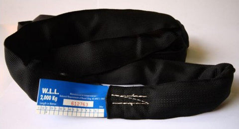 1 tonne - Black Endless Round Slings Various Lengths Avail