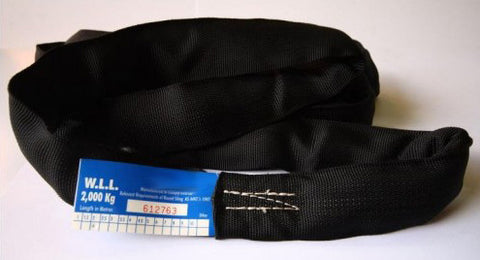 2 tonne - Black Endless Round Slings - Various Lengths Avail