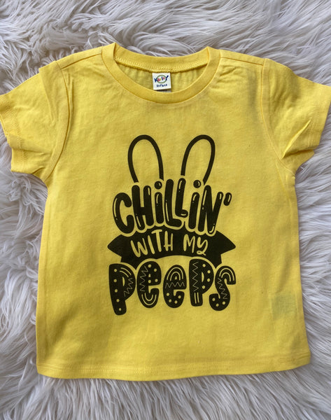 Chillin with my peeps yellow tee
