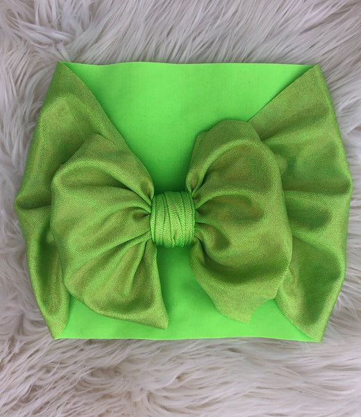 Lime super sparkle headwrap