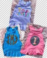 Mystery personalized tank dres