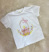 Personalized Easter basket tee